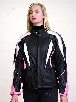 Higgs Leathers HALF PRICE SAVE £70!  Monitou (women's motorcycle Black Leather jack